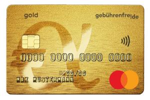 Gebührenfrei Mastercard GOLD f