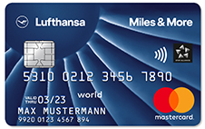 Miles & More Kreditkarten Miles & More Credit Card Blue World Plus