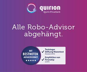 Quirion - bester RoboAdvisor