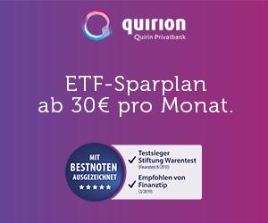 ETF Sparplan ab 30 Euro
